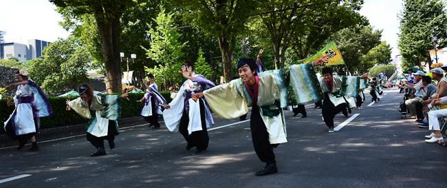 富山まつり YOSAKOI 緑更紗衣装